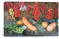 Mediterranean vegetables, Canvas Print