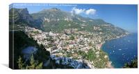 Positano, Italy - paradise village, Canvas Print