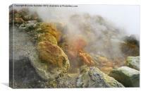 Solfatara live volcano, Naples, Italy, Canvas Print