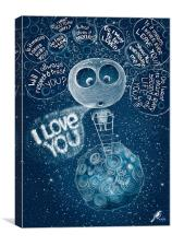 I love You!, Canvas Print