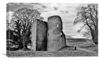 Crickhowell Castle, Canvas Print