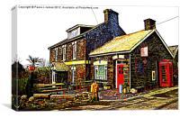 The Old Post Office in Rosebush, Canvas Print