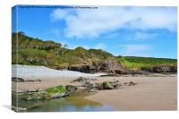 Telpyn Beach, Carmarthenshire, Canvas Print
