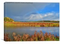 Rainbow over the Taf Estuary, Canvas Print