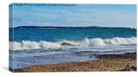 Caldey Isand viewed from South Beach, Canvas Print