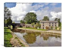 Monmouthshire & Brecon Canal, Canvas Print