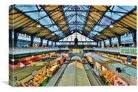 Cardiff Market, Canvas Print