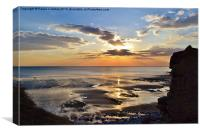 Sunset at Southerndown, Canvas Print