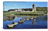 Ogmore Castle, Canvas Print