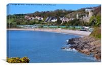 Langland Bay, Canvas Print