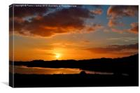 Sunset over Ogmore Estuary, Canvas Print