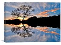 Sunset Reflections, Canvas Print