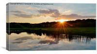 Sunset in Ogmore Village, Canvas Print