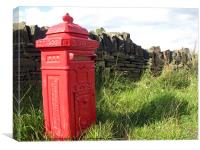Smallest Postbox in Saddleworth, Canvas Print