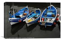 Boats in the Harbour, Canvas Print