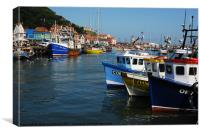 The Harbour Scarborough, Canvas Print
