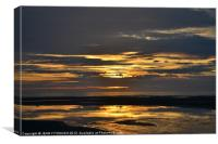Sunset On Blackpool Beach, Canvas Print
