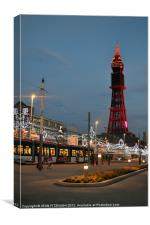 Blackpool Tower and Illuminations 2012, Canvas Print