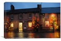 CASTLETON CHRISTMAS LIGHTS in the Peak District, Canvas Print
