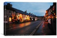 Castleton Christmas Lights, Canvas Print