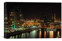 salford quays at dusk, Canvas Print