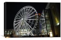 The Manchester Ferris wheel , Canvas Print