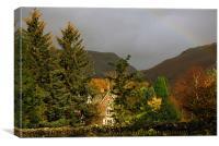 Rainbow over Grassmere, Canvas Print