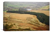 RESERVOIR AND THE MOORS, Canvas Print