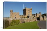 Curzan Castle in Scotland, Canvas Print