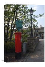 Postbox at Marsden, Canvas Print