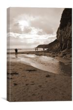 Caswell Beach,, Canvas Print