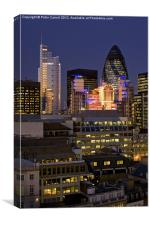 London City Skyline at Dusk, Canvas Print