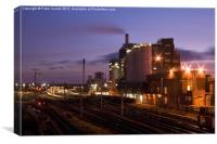 Lever Brothers Factory Warrington, Canvas Print
