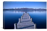 Lake Windermere at Winter. , Canvas Print
