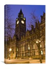 Manchester Town Hall, Albert Square, Canvas Print