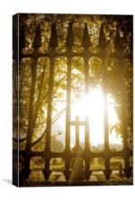 Gothic Grave Yard , Canvas Print