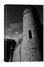 Tower of London In Monochrome, Canvas Print