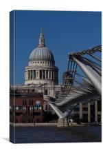 St pauls and Millenium Bridge, Canvas Print