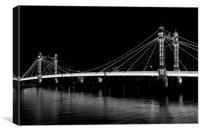Albert Bridge London night view, Canvas Print