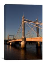 The Albert Bridge London, Canvas Print