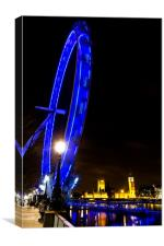 London Eye at Night, Canvas Print