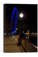 London at Night, Canvas Print