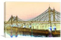 Albert Bridge London, Canvas Print