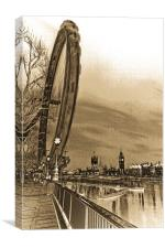 London Eye and Westminster Art, Canvas Print