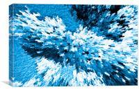 Crystal flowers, Canvas Print