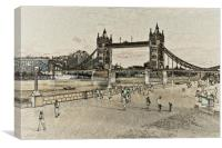 London Southbank art, Canvas Print