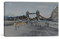 Southbank London art, Canvas Print