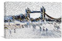 Southbank London art, Canvas Print