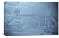 Tower Bridge art, Canvas Print