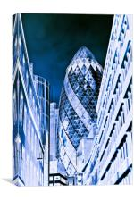 The Gherkin Building London, Canvas Print